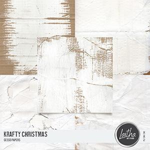 Krafty Christmas - Gesso Papers