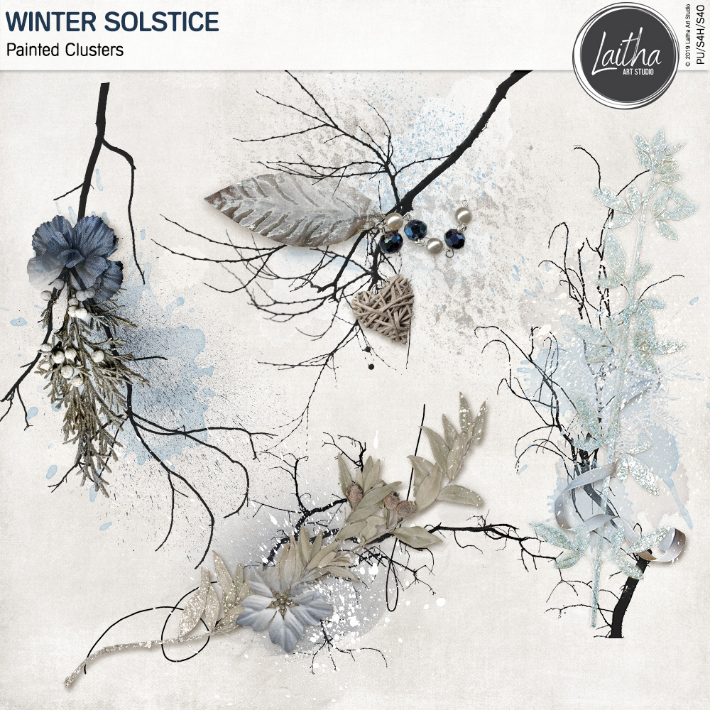 Winter Solstice - Painted Clusters