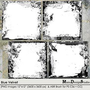 Blue Velvet - Page Borders