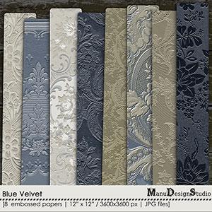 Blue Velvet - Embossed Papers