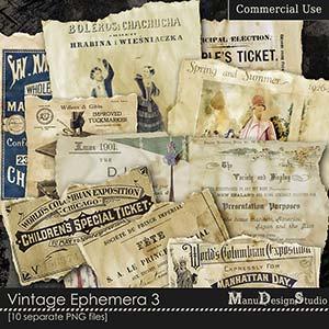 Vintage Ephemera 3 - CU