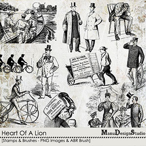 Heart Of A Lion - Stamps