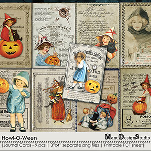 Howl-O-Ween - Journal Cards