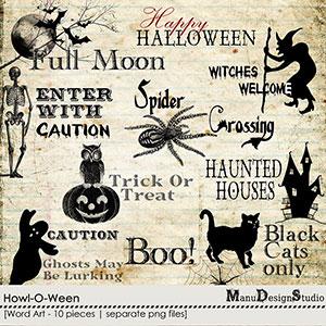 Howl-O-Ween - Word Art