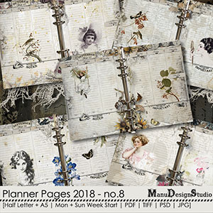 Printable Planner Pages 2018 - No. 8