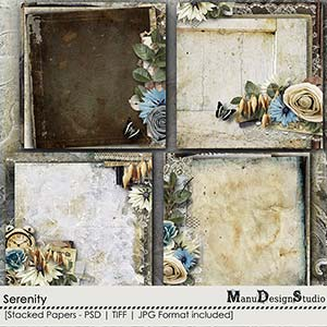 Serenity - Stacked Papers