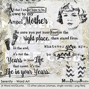 Serenity - Word Art