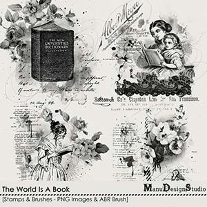 The World Is A Book - Stamps