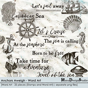 Anchors Aweigh - Word Art