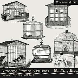 Birdcage Stamps & Brushes - CU