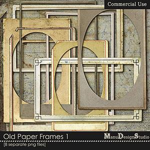 Old Paper Frames- CU