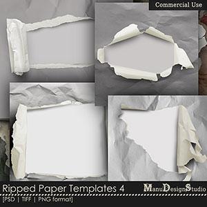 Ripped Paper Templates  4 - CU