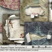 Ripped Paper Templates  3