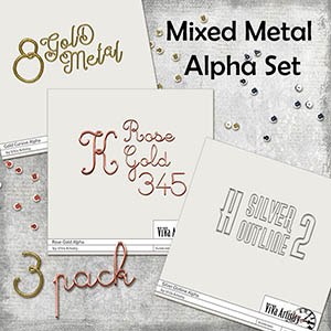 Mixed Metal Alpha Set