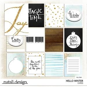 Hello Winter Cards
