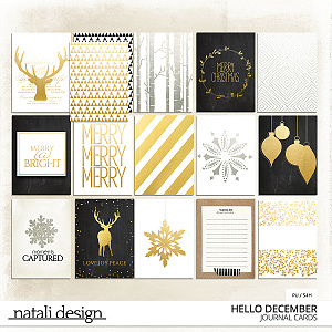Hello December Journaling Cards
