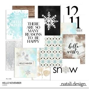 Hello November Journaling Cards
