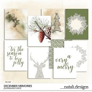 December Memories Journal Cards