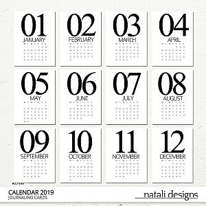2019 Calendar Cards