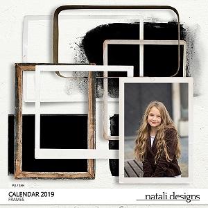 2019 Calendar Frames