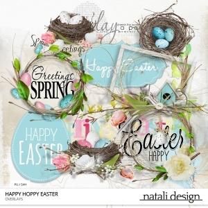 Happy Hoppy Easter Overlays
