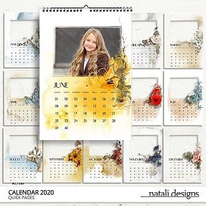 2020 Calendar Quick Pages