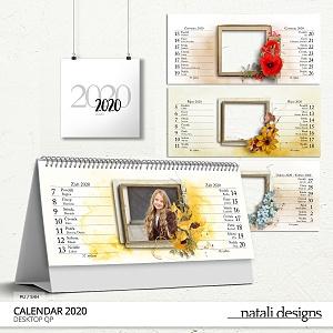 2020 CalendarTable Quick Pages Czech
