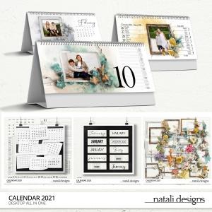 2021 Calendar Table Bundle