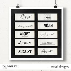 2021 Calendar Names