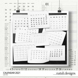 2021 Calendar Dates