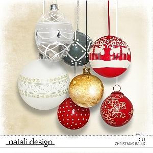 CU Christmas Balls