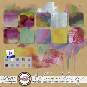 Autumn Whispers {Painters Toolbox - Watercolor Styles}