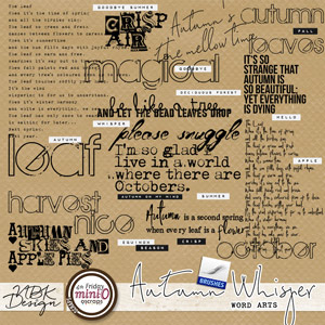 Autumn Whispers {Word Arts}