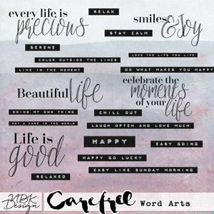 Carefree {Word Arts}