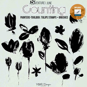 Counting {Painters-Toolbox: Tulips - Brushes & Stamps}