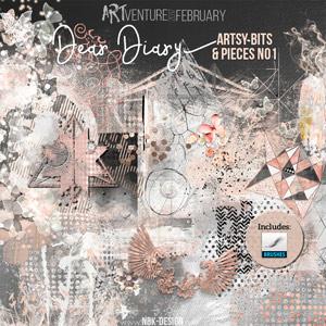 Dear Diary {Artsy Bits & Pieces No1}