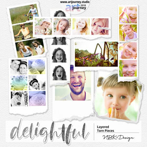 DELIGHTFUL {Torn Frame Pieces}