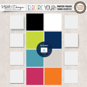 Electric Youth {Painters-Toolbox: Color- and Shadow-Styles}