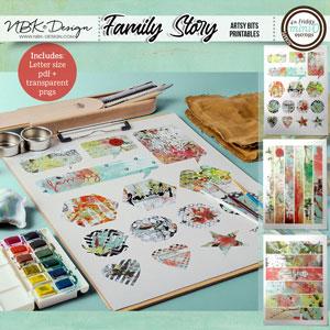 Family Story {Artsy Bits - Printables}