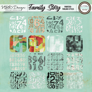 Family Story {Painters-Toolbox: Number Styles}
