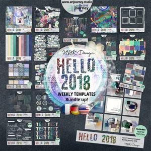 Hello 2018 {Bundle up! Weekly Templates Version}