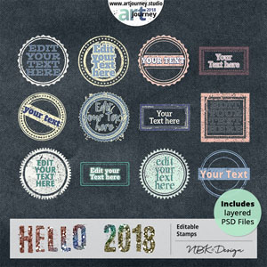 Hello 2018 {Stamps}