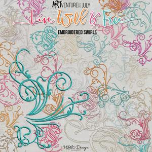 Live Wild & Free {Embroidery Swirls}