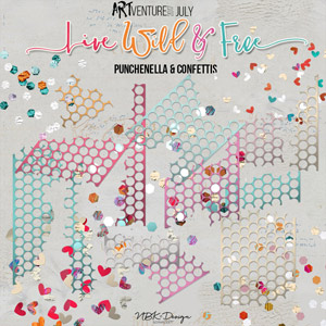 Live Wild & Free {Punchenella + Confettis – Brushes & Stamps}