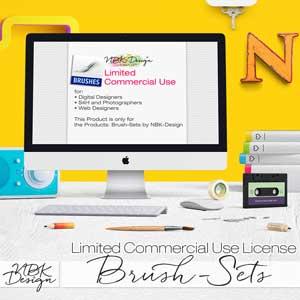 "*Limited Commercial License for ""Brush-Sets""  by NBK-Design"