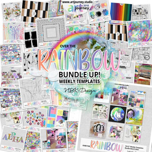 Over the Rainbow {Bundle Up! Weekly Templates}
