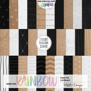 Over the Rainbow {Paperset: Cardboard Pattern}