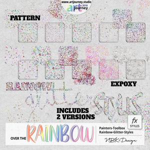 Over the Rainbow {Painters-Toolbox: Styles Rainbow Glitter}