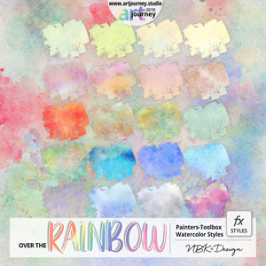 Over the Rainbow {Painters-Toolbox: Styles Watercolor}