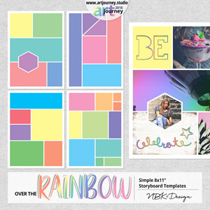 """Over the Rainbow {Storyboard Templates 8x11""""}"""